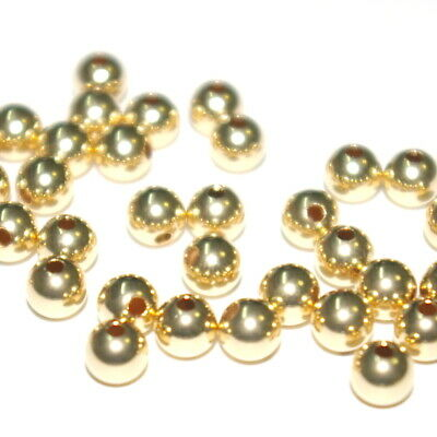 100 pcs 14kt GOLD FILLED 5mm ROUND Seamless BEADS Lot