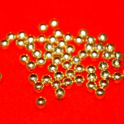 100 pieces 3mm 14kt GOLD FILLED ROUND Seamless BEADS Lot BalliSilver