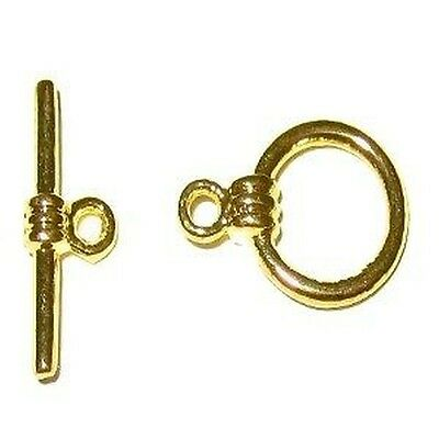10 Sets 10x15mm Gold Plated Alloy Toggles Clasps - A6514