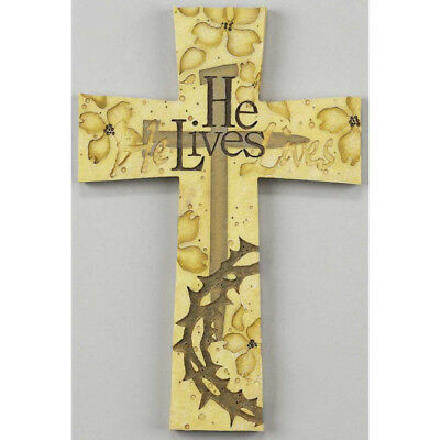 HE LIVES WALL CROSS (Crown of Thorns)
