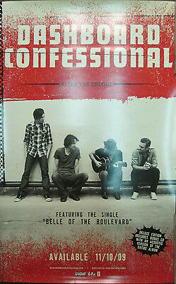DASHBOARD CONFESSIONAL Alter Ending, orig promotional poster, 2009, 14x22,EX,emo