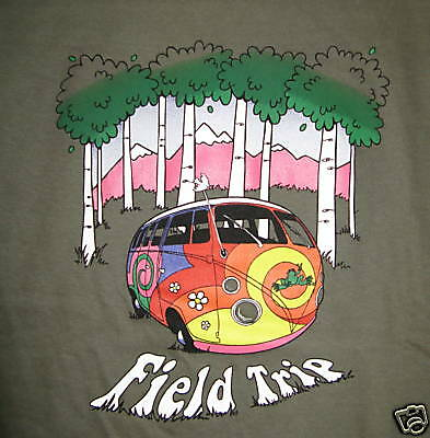 New Peace Frogs Field Trip Large Adult T-Shirt
