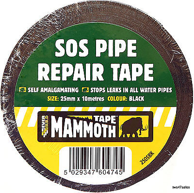 Pipe Repair Tape Stop Water Leak burst plumbers taps waterproof sos amalgamating
