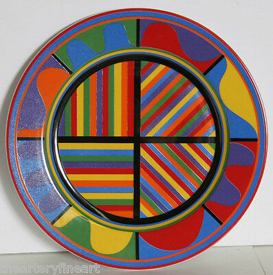 """SOL LEWITT 'Untitled' Limited Edition 12"""" Porcelain Plate ed. 500 **NEW**"""