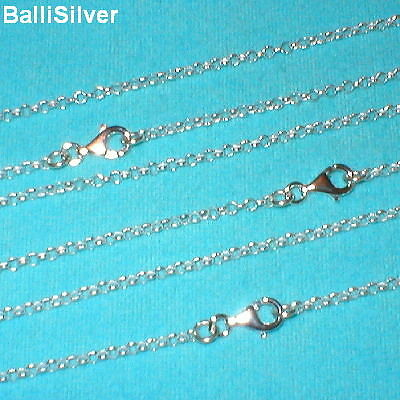 6 St. Silver 2.5mm ROUND ROLO / BELCHER Chains Lot 18""