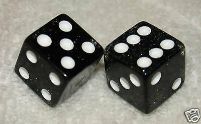 Black Glitter Dice Pair
