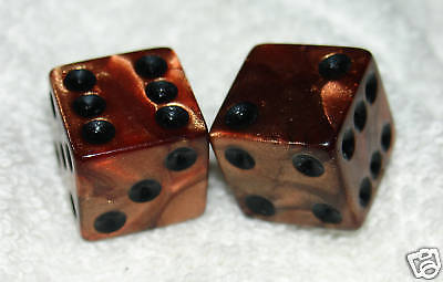 Copper Metalic Colored Dice Pair