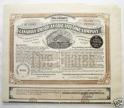 Action ancienne : Canadian-american coal (  632 )