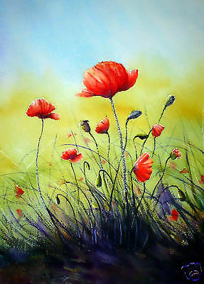 """BEAUTIFUL FLORAL BOX CANVAS ART PAINTING mounted 28x20/"""""""