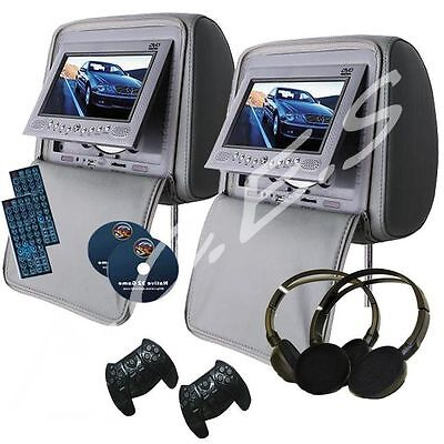 "Dvd Headrests X2 7"" Tft Monitors   Uk Seller  Uk Seller"