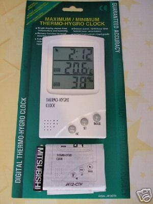 New Digital Thermometer & Hygrometer with Alarm Clock !