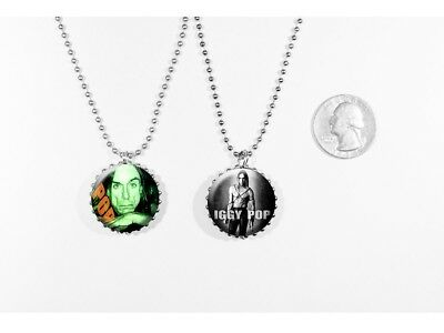 Iggy Pop The Stooges Punk Rock 2 sided necklace
