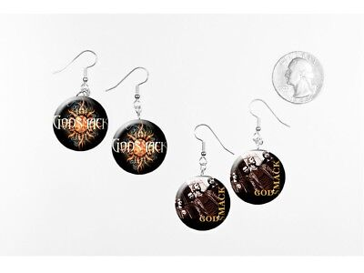 GODSMACK 2 pairs of button charm EARRINGS