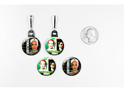Eurythmics Annie Lennox British Pop zipper pulls w/matching buttons