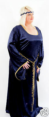MEDIEVAL/LARP/SCA HISTORICAL WEDDING FANCY DRESS in all plus sizes & colours