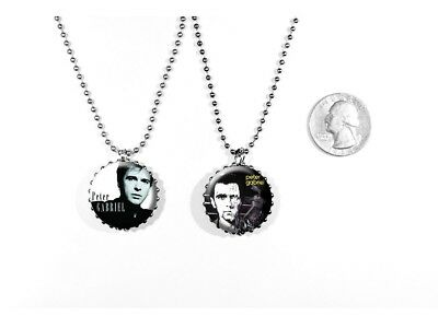Peter Gabriel Singer Songwriter 2 sided necklace