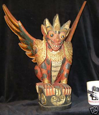 "18.5""(47 cm) Traditional Balinese Wood Carving Guardian"