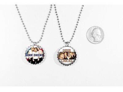 Dixie Chicks Girl Band Country 2 sided necklace