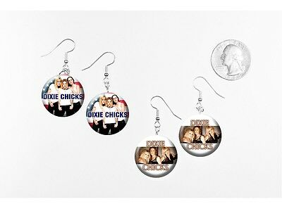 Dixie Chicks Girl Band Country 2 pairs of button charm EARRINGS