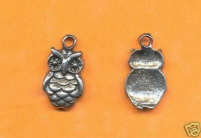 100 wholesale lead free pewter owl charms 1018