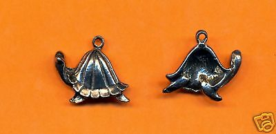 100 wholesale lead free pewter turtle charms 1016