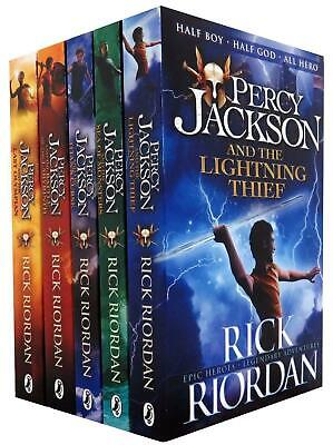 Percy Jackson & the Olympians 5 Children Book Box Collection Set Series Pack