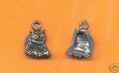 100 wholesale lead free pewter tiger charms 1112