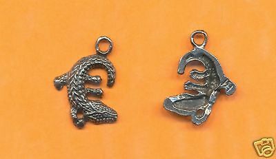 100 wholesale lead free pewter alligator charms 1120