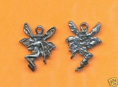 100 wholesale lead free pewter fairy charms 1171