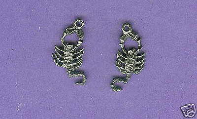 100 wholesale lead free pewter scorpion charms 1186