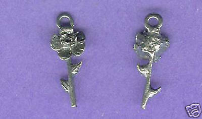 100 wholesale lead free pewter rose charms 1178