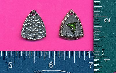 12 wholesale pewter dolphin shield pendants 4064