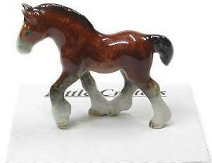 LC113 - Little Critterz  Porcelain Miniature Clydesdale (Buy any 5 get 6th free!