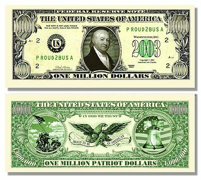 100 Factory Fresh Paul Revere Million Dollar Bills