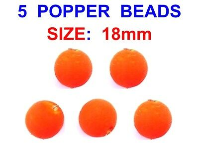 Popper Beads Size 25mm Qty 6 Pops Up Dead Baits For Pike Fishing