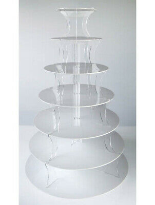 7 Tier Stand White Tower Cup Cake & Party Cupcake Multi Wedding