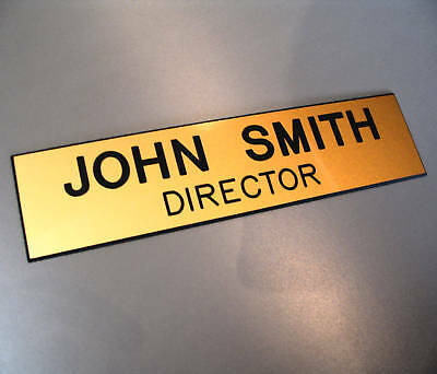 Engraved Signs  -  Custom Made  -  200mm x 50mm