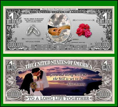 5 Factory Fresh Wedding Million Dollar Bills - New