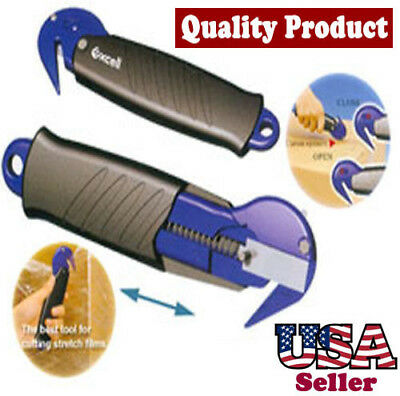 Utility Knife Cutter Smart Opener for Box Carton Stretch Film Safe Warehouse Use