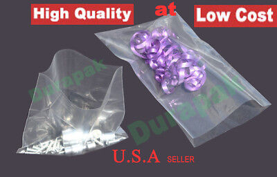 "1000~ 6x12"" 2 Mil Clear Flat Open Top Poly Plastic Bag Parts Nuts Cookie Bags"