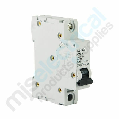 1 Pole Circuit Breakers 6kA 32A 40A 50A 63A NEW!