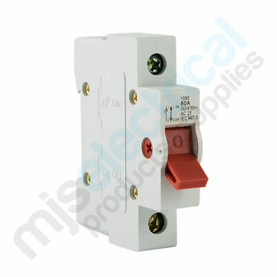1 Pole Main Switch 80A 100A Switchboard Electrical Supplies NEW