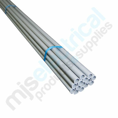 20mm Rigid Electrical Conduit - Grey MD 4mtr Length NEW Electrician Supplies