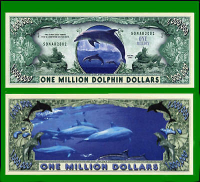 5 Factory Fresh Dolphin Million Dollar Bills - New