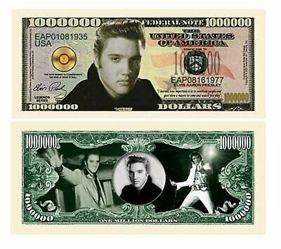 5 Factory Fresh Elvis Million Dollar Bills - New