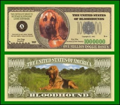 50 Factory Fresh Bloodhound Million Dollar Bills - New