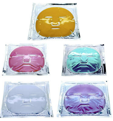 (5) COLLAGEN ANTI-AGING GEL FACE MASK Assorted 5 types SKIN HYDRATE UP TO 72 HRS