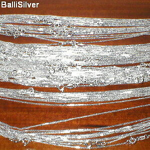 "50 pieces 16"" 18"" 20"" Sterling SILVER 925 0.9mm BOX 015 CHAIN NECKLACES Lot"