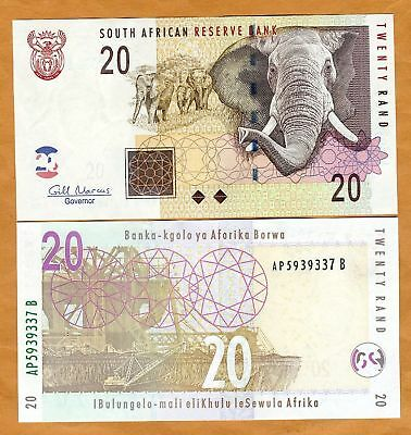 South Africa, 20 rand (2009), P-129-New, UNC > Elephant