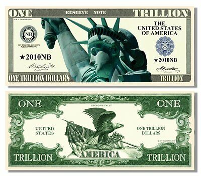 15 Factory Fresh Novelty Liberty Eagle Trillion Dollar Bills